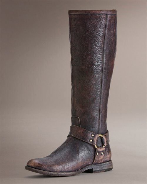 Love ❤: Tall Boots, Dark Brown, Leather Boots, Frye Boots, Women'S Boots, Phillip Harness, Brown Boots, Harness Tall, Frye Phillip