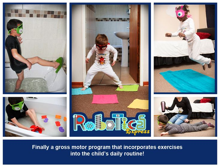 A gross motor program for all hard working parents to do with their children 3-8 years old during BATHTIME!