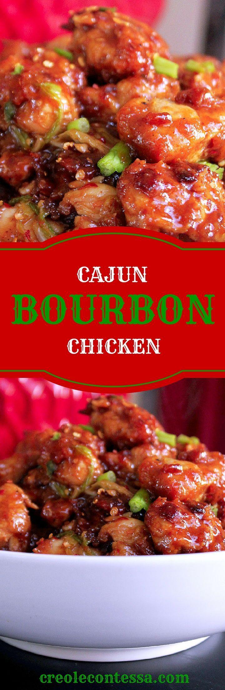 Cajun Bourbon Chicken-Creole! #delicious