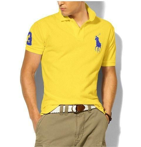 Polo Sale Polo Ralph Lauren Custom-Fit Big Pony Polo Shirt Yellow