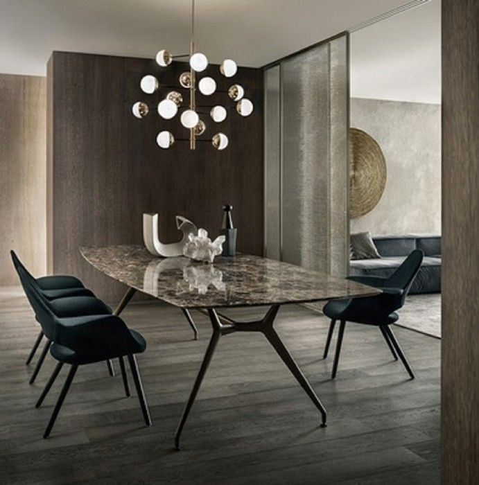Noctum Projecten | Rimadesio Projectinrichter (Product) - Rimadesio Manta tafel in glas, hout, marmer of acryl blad - architectenweb.nl
