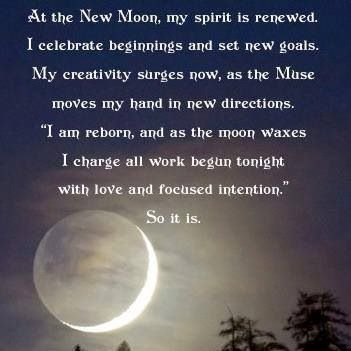 how to clense and set intention for new moon