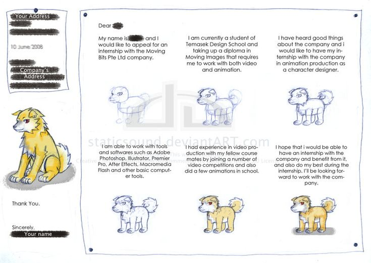 Internship Cover Letter Art by staticsound on DeviantArt | letter ...