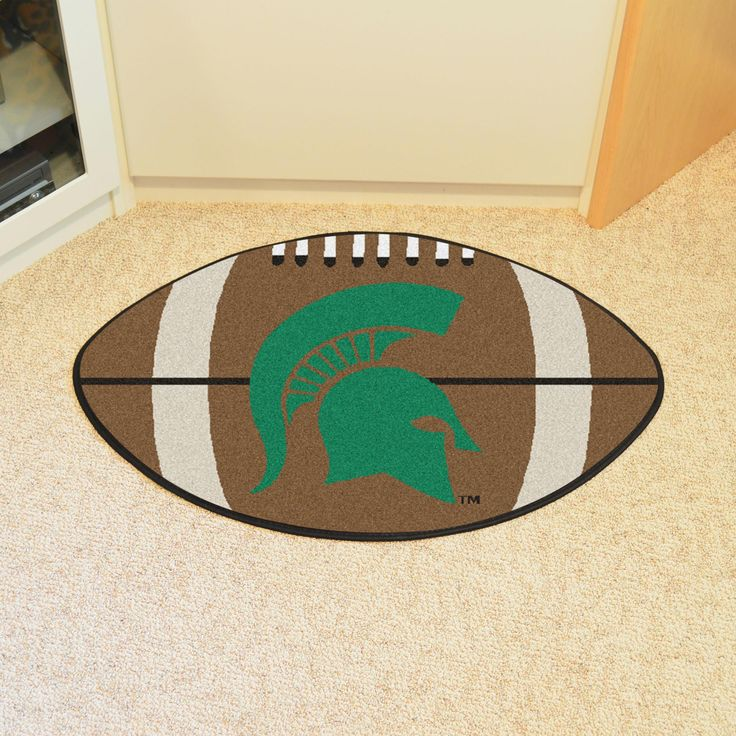 Michigan State Football Rug 20.5x32.5