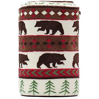 Amazon.com: Black Bear Lodge High Quality Raschel Blush Queen Size Blanket: Home & Kitchen