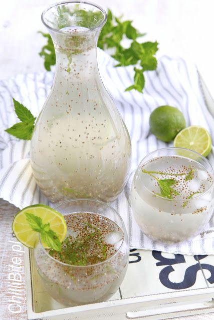 orzeźwiająca meksykańska lemoniada z chia i limonką