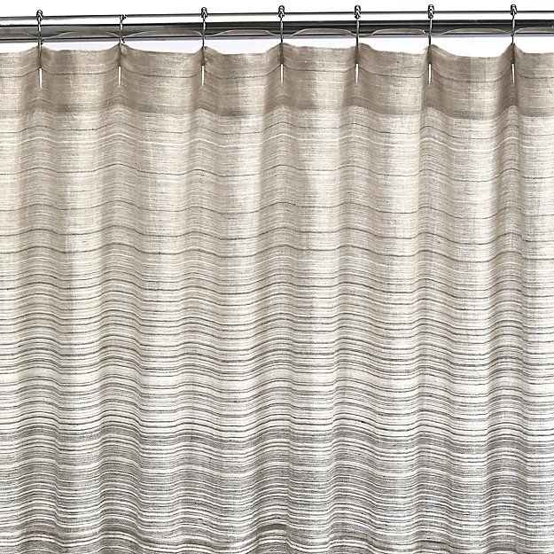 Veres Grey Ombre Shower Curtain Crate And Barrel Ombre Shower