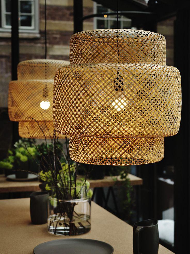 Sinnerlig, la nouvelle collection IKEA | Suspension bambou vernis tressé à la main, 49 €