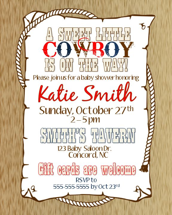 cowboy baby shower invitation in 2018 jay mexican cowgirl