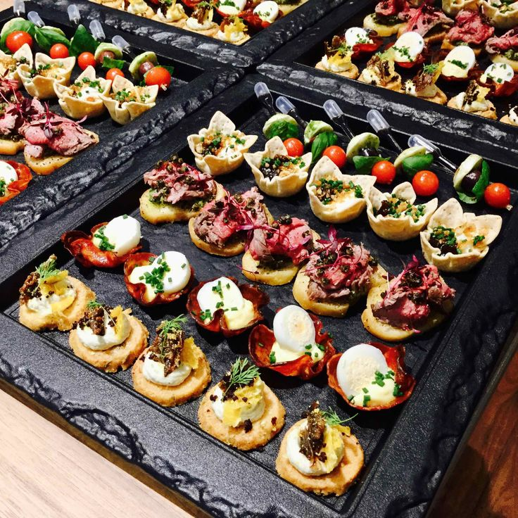 Mixed canapés from Forkful Food