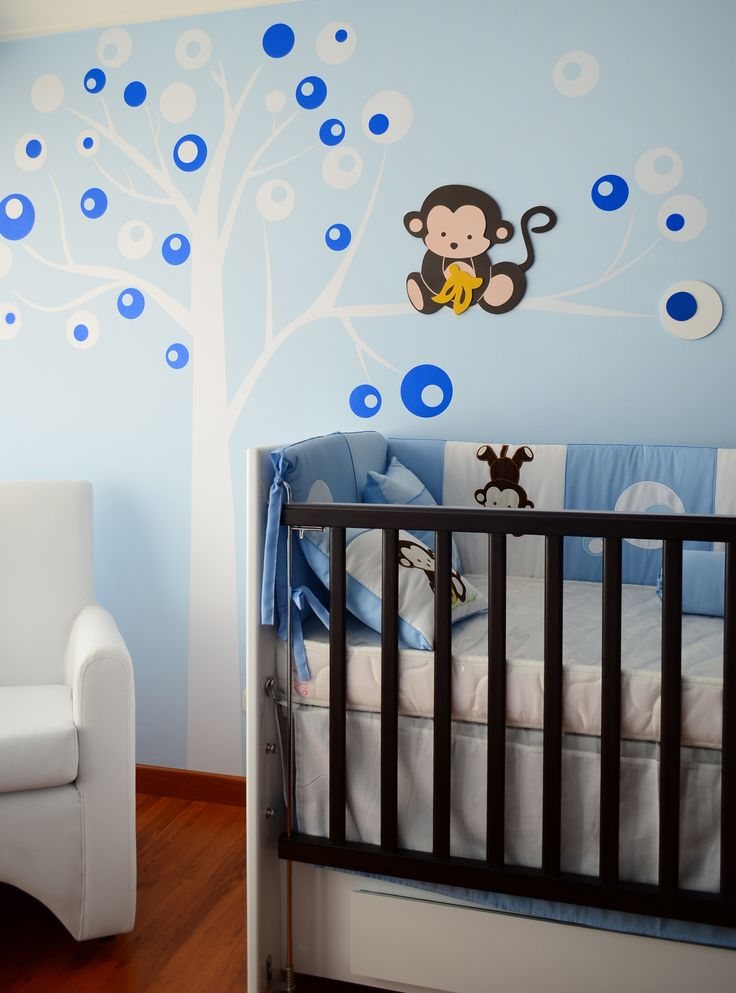Monito para pared bebe cuarto ni o pinterest mono for Ideas para habitaciones para bebe