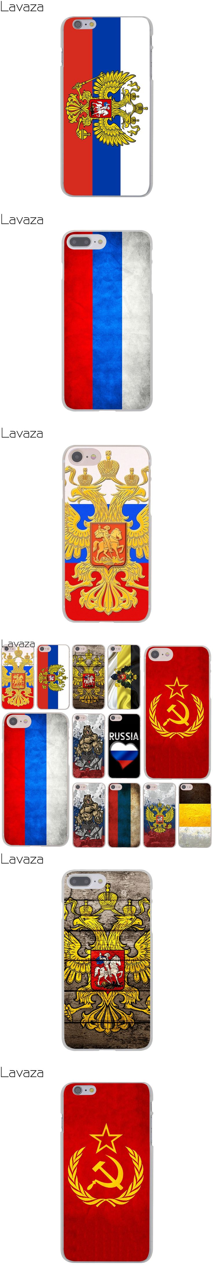 Lavaza flag  Russian Federation Red Army Bear Hard Cover Case for Apple iPhone 8 7 6 6S Plus 5 5S SE 5C 4 4S X 10 Coque Shell