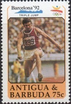 Stamp: Triple Jump (Antigua and Barbuda) (Summer Olympics 1992) Mi:AG 1404,Sn:AG 1330