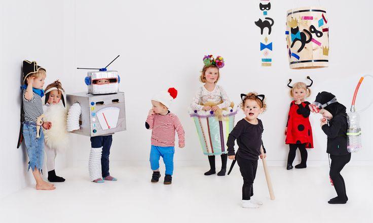 Et lille, blødt får eller en sej dykker - det behøver ikke være indviklet at lave et kostume. Her er 8 ideer til hjemmelavede fastelavnskostumer.