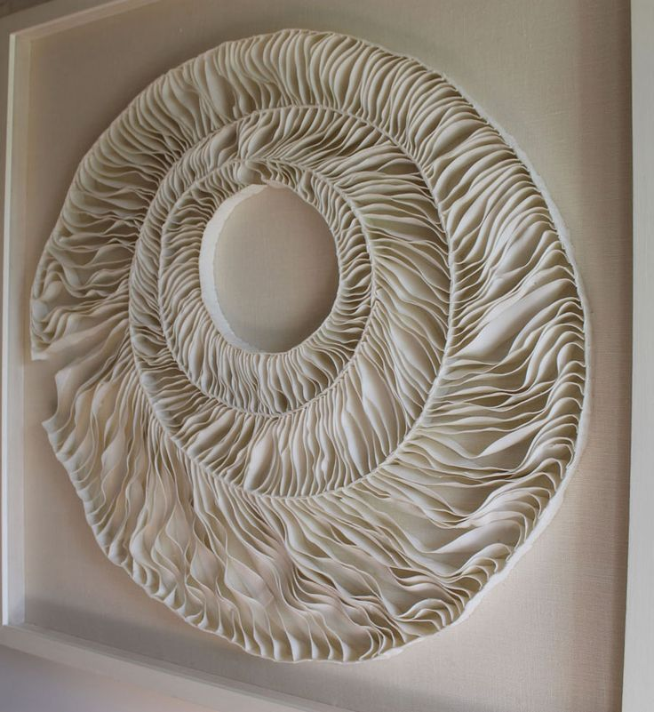 Fenella Elms - Ceramics Artist - Edges ... It looks like sheets of paper with stripes cut into them...