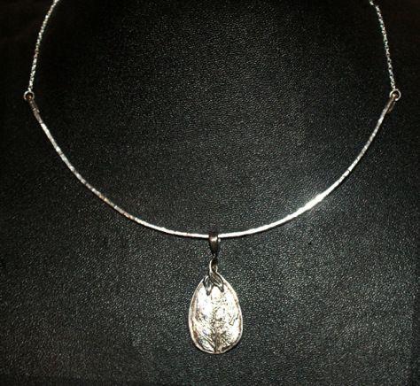 Pendant, silver PMC