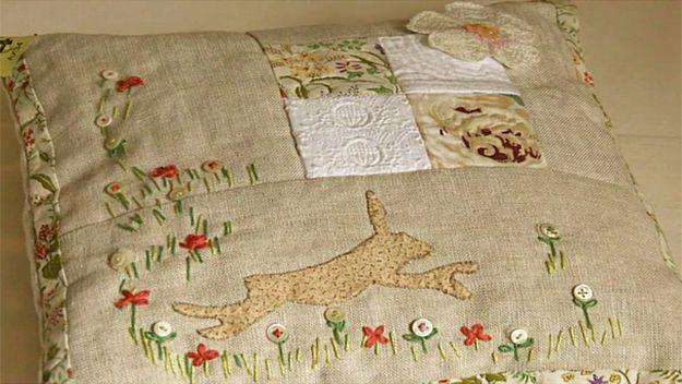 Kirstie's Handmade Linen Cushion