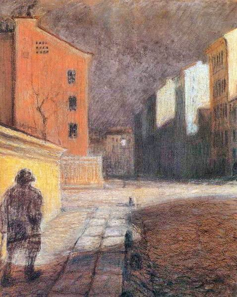 Mstislav Dobuzhinsky (1875-1957), Street In Munich, ca. 1899-91.