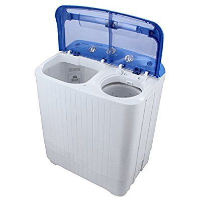 ARKSEN Portable Mini Small Washing Machine Spin Dryer Laundry, 11LBS, White
