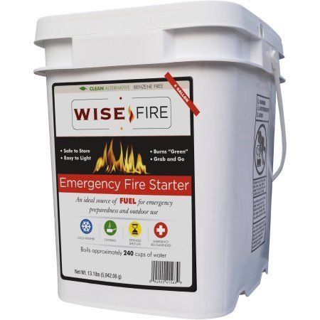 Emergency Fire Starter Ideal Source Of Fuel For Emergency Preparedness And Outdoor Use, 13.1 lbs > Safe to store: 25-year shelf life and stores safely near food Easy to light: Burns in wind, rain, sleet or snow Burns green: Clean alternative with no harmful chemicals Check more at http://farmgardensuperstore.com/product/emergency-fire-starter-ideal-source-of-fuel-for-emergency-preparedness-and-outdoor-use-13-1-lbs/