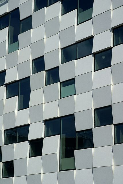 Facade on a new building in the hammarby district south of Stockholm