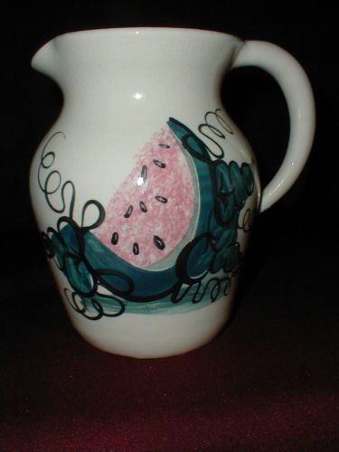 Ellis Pottery Marshall Tx Large Stoneware WATERMELON Pitcher/Jug & Best 25+ Marshall tx ideas on Pinterest | Marshall pottery George ...