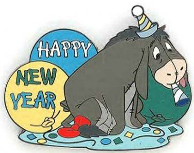 Eeyore Happy New Year pin from Fantasies Come True