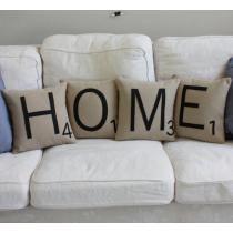 Home, σετ 4 διακοσμητικά μαξιλάρια
