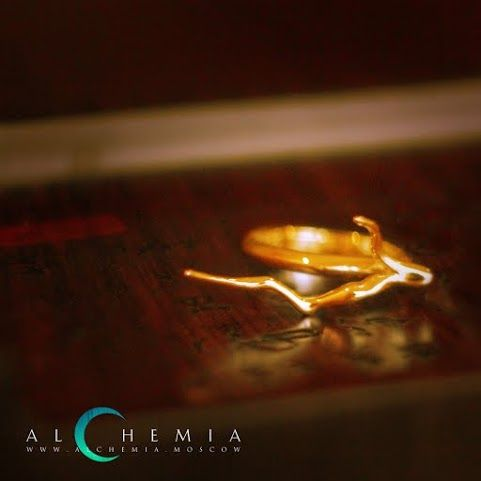 The Branch ring. Gilded silver. Handmade by Alchemia Jewellery