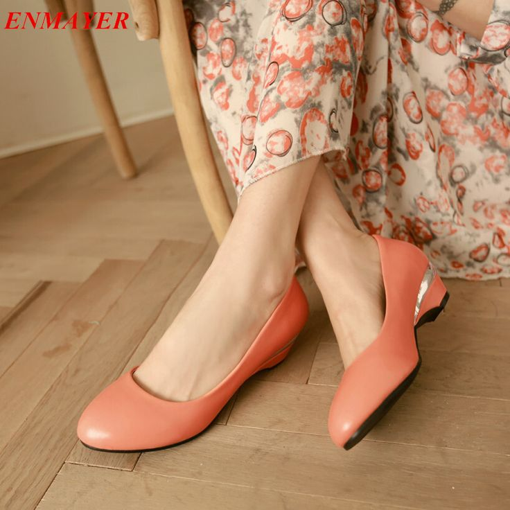 Cheap pumps shoes black, Buy Quality pumps heels directly from China shoes advice Suppliers:                ENMAYER New Hot sale Fashion Wedges shoes woman Mary Jane Ankle Strap High Heel platf