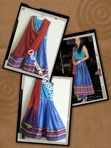 Simple Anarkali  Customised Suit