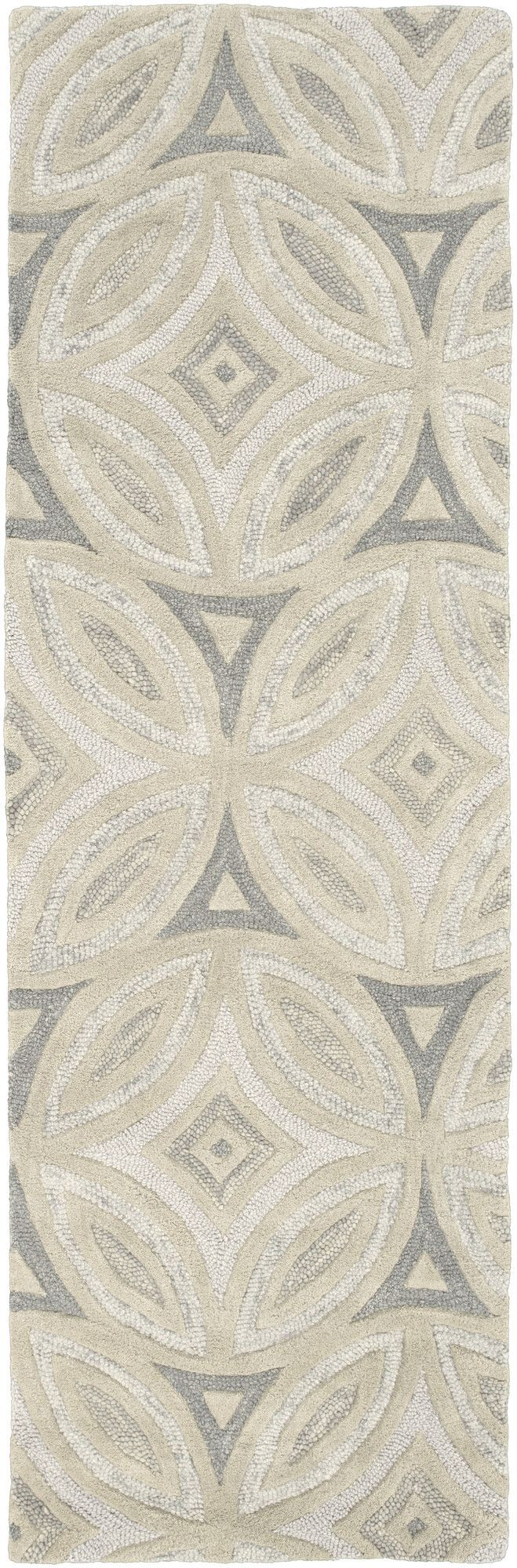 Perspective Beige/Light Gray Geometric Area Rug