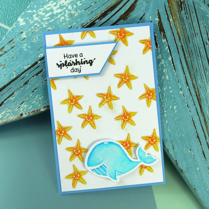 Card created using For the Love of Stamps Under the Sea stamp set