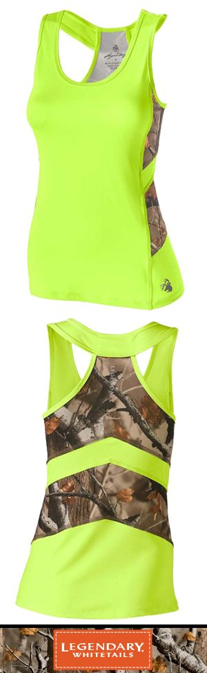 You'll be ready to go all out in this true performance tank!  Featuring a great poly/spandex blend, Big Game® Camo, and reflective logos front and back.  Moisture wicking technology to help keep you dry and comfortable in any activity.