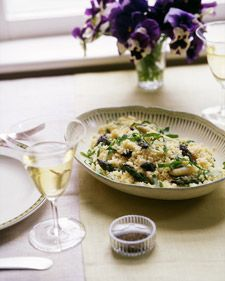 Couscous with Green and White Asparagus