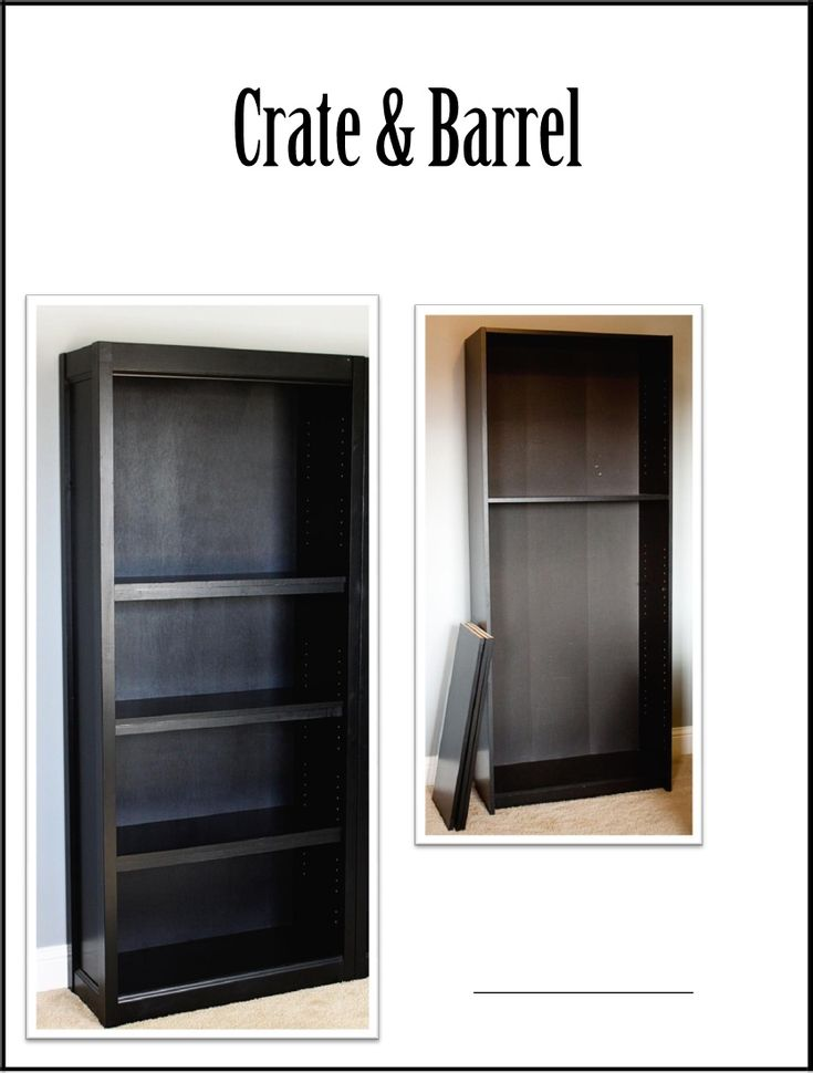 Crate & Barrel knock off bookcase made from an inexpensive Walmart bookcase - step by step directions