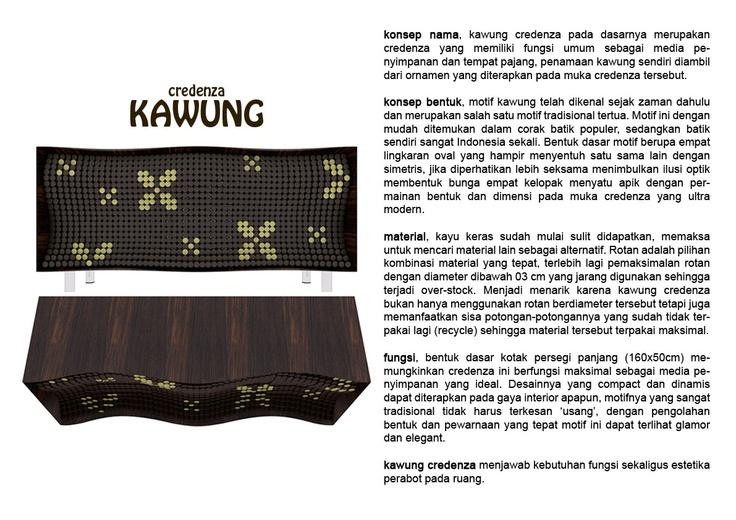my kawung credenza concept