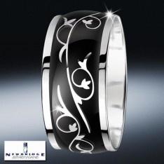 Elegant bangle by Newbridge. Black and silver always looks stylish. giftsdirect.com