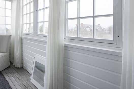 Horizontal White Wood Paneling Cottage Pinterest