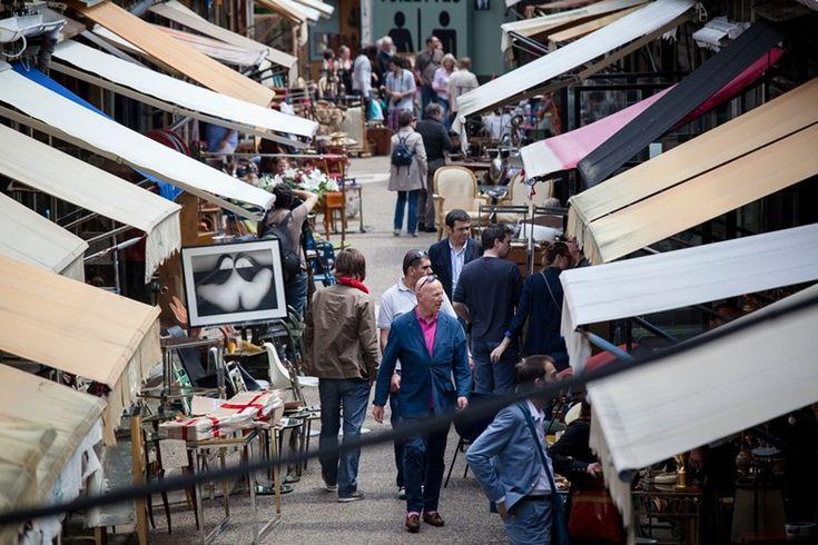 marché aux puces de saint-ouen. porte de clignancourt, paris.