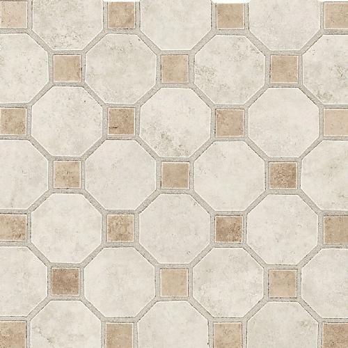 Azulejos Para Baño Daltile:Octagon Mosaic Ceramic Floor Tile