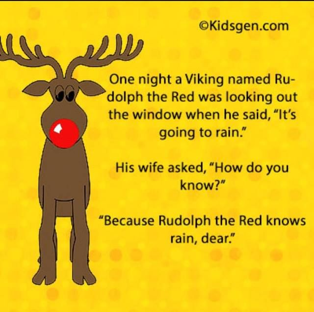Rudolph...funny Christmas pun!                                                                                                                                                                                 More