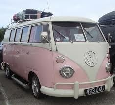 pink volkswagen bus - Google Search