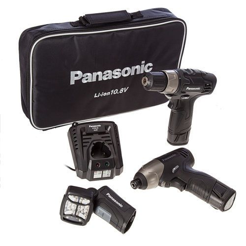 PANASONIC EYC110LA2L Lithium-ion Cordless 3 Piece Kit Supplied with: 2 x 1.5Ah Li-ion batteries,Drill driver,Impact driver,Torch, Charger...5025232803538