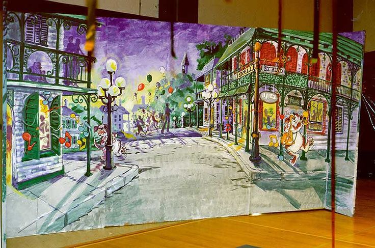 Cafeteria Wall Mural Mardi Gras Prom Pinterest Wall