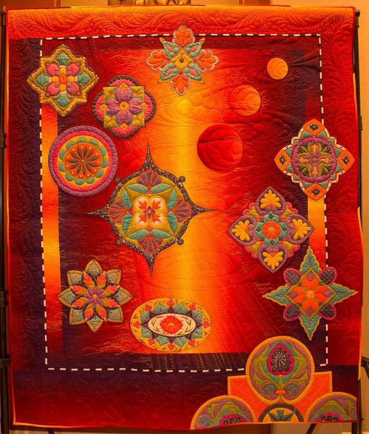 Moroccan Moonfire by Tami Graeber…Best of Show 2015 Tucson Quilt Fiesta
