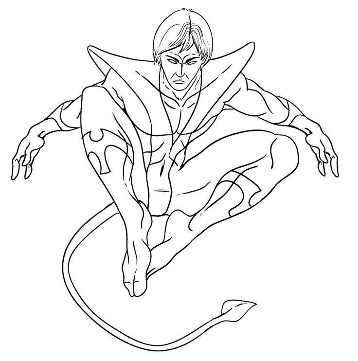 the x men jump coloring pages