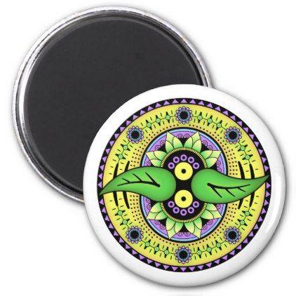 Simple Mandala 2 Magnet - simple clear clean design style unique diy