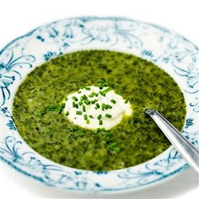 Delicious spinach soup