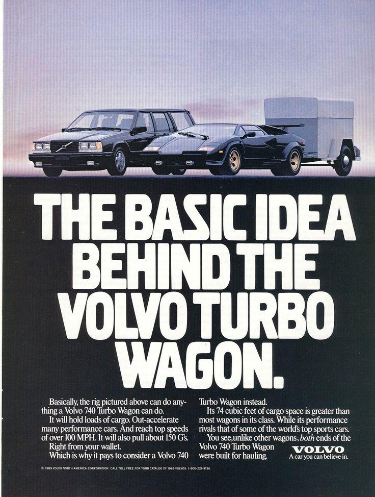 Old magazine ad.  The basic idea behind the Volvo Turbo Wagon